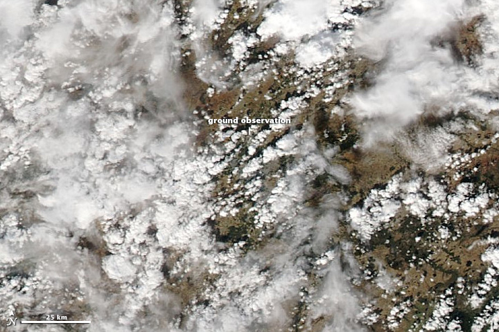 Normal cloud in Spain.
